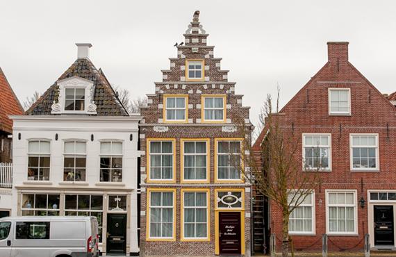 Voorkant Boutique Hotel De Eilanden Harlingen